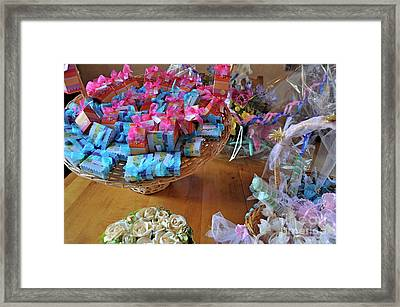 Sugared Almond Baskets Framed Print