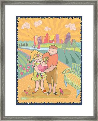 Sugarfoot's Day In The Park Framed Print by Renee Ciufo