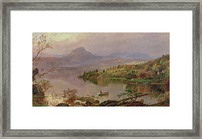 Sugarloaf From Wickham Lake Framed Print