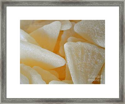 Sugary Grapefruit Slices Framed Print by Gwyn Newcombe