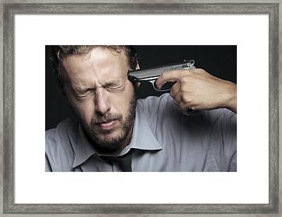 Suicidal Man Framed Print by Mauro Fermariello