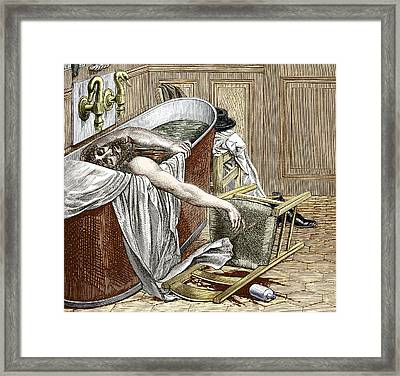 Suicide Of Wells, Anaesthesia Pioneer Framed Print