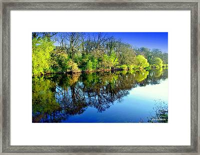 Suir Reflections Framed Print