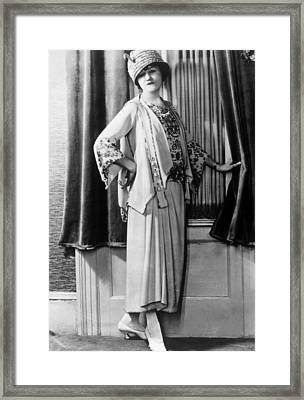 Suit-dress And Jacket Made Of White Framed Print
