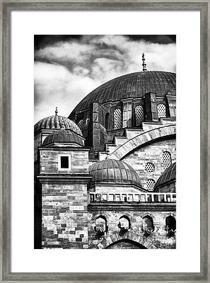 Suleymaniye Domes Framed Print by John Rizzuto