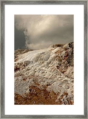 Sulfur Waterfall Framed Print by Eric  Nelson