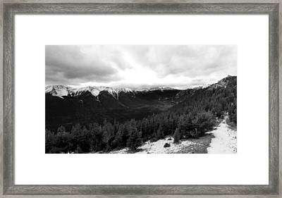 Framed Print featuring the photograph Sulphur Mountain by JM Photography
