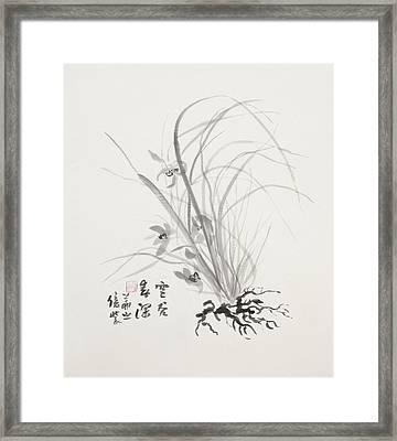 Sumi-e Four Framed Print by Greg Kopriva