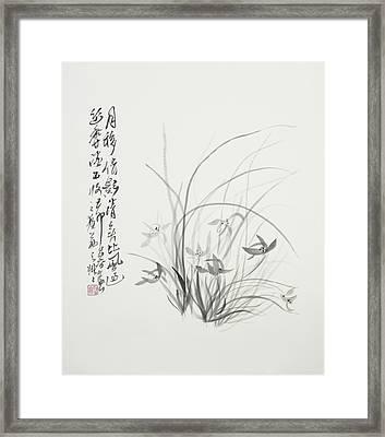 Sumi-e One Framed Print by Greg Kopriva