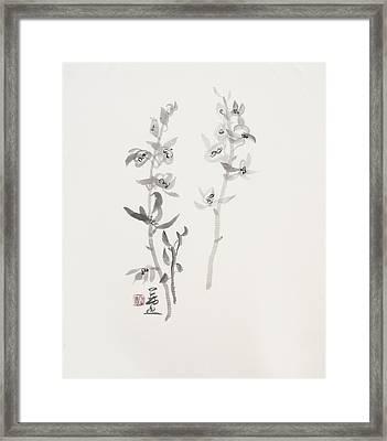 Sumi-e Six Framed Print by Greg Kopriva