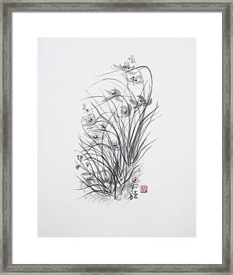 Sumi-e Two Framed Print by Greg Kopriva