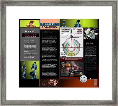 Summary Rotations P14 Framed Print by Glenn Bautista
