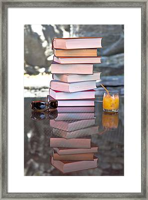 Summer - Reading Time Framed Print by Joana Kruse