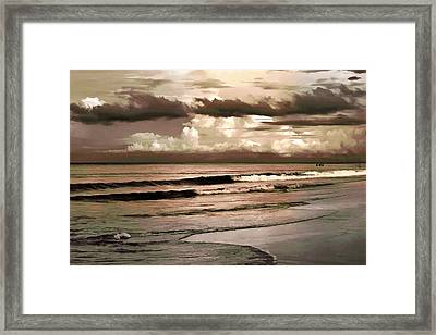 Framed Print featuring the photograph Summer Afternoon At The Beach by Steven Sparks