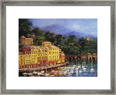 Summer Afternoon In Portofino Framed Print by R W Goetting