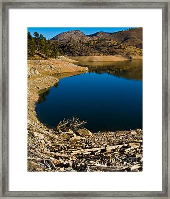 Summer At Seaman's Reservoir Framed Print