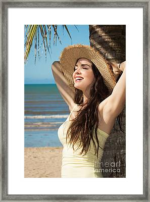 Summer At The Beach Framed Print