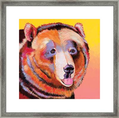 Summer Bear Framed Print by Bob Coonts