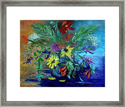Framed Print featuring the painting Summer Bouquet by Carol Berning