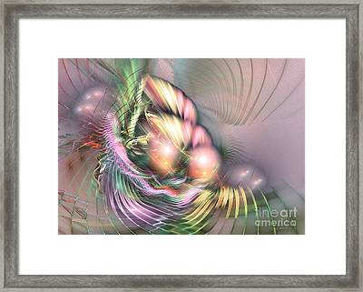 Summer Breeze - Fractal Art Framed Print by Sipo Liimatainen