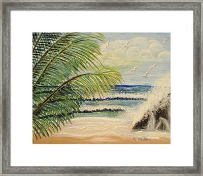 Summer Breeze Framed Print by Maria Medina
