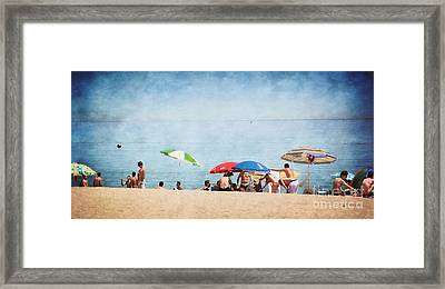 Summer By The Sea Framed Print by Mary Machare
