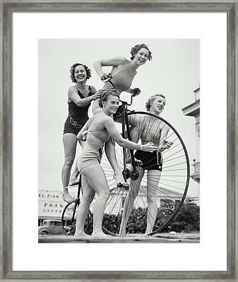Summer Cyclists Framed Print