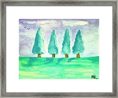 Summer Day Framed Print by Marsha Heiken