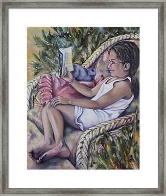 Framed Print featuring the painting Summer Day by Pauline  Kretler