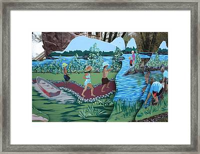 Framed Print featuring the painting Summer Detail by Jan Swaren
