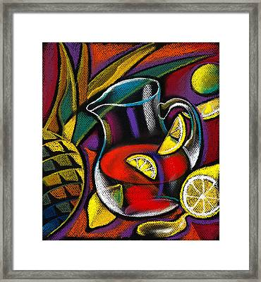 Summer Drink Framed Print by Leon Zernitsky