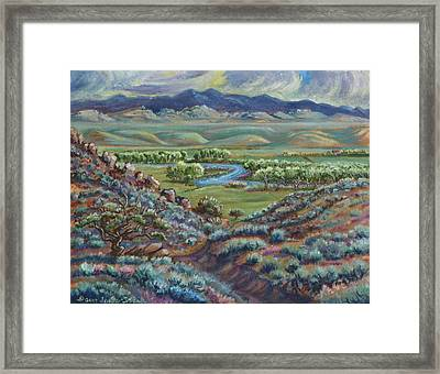 Summer Evening In The River Valley Framed Print