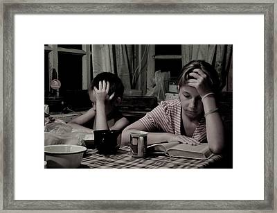 Summer Evening Framed Print by Sasha Gurkova