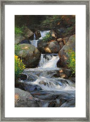 Summer Falls Framed Print by Anna Rose Bain