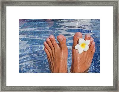 Summer Feet Framed Print by Alex Bramwell