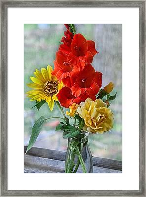 Summer Floral Framed Print by Debbie Portwood
