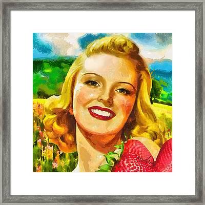 Summer Girl Framed Print by Mo T