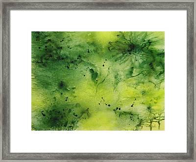 Summer Greenery Framed Print