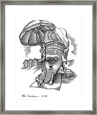 Summer Holidays, Conceptual Artwork Framed Print by Bill Sanderson