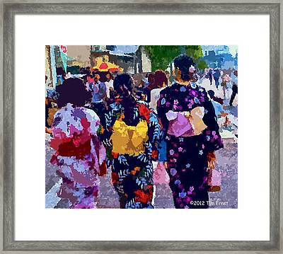 Framed Print featuring the digital art Summer In Japan by Tim Ernst