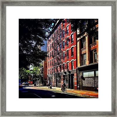 Summer In New York City Framed Print