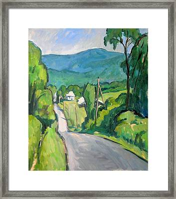 Summer In The Berkshires Framed Print