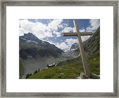Summer In The Mountains. The Cross Framed Print by Axiom Photographic
