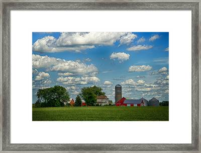 Summer Iowa Farm Framed Print by Bill Tiepelman