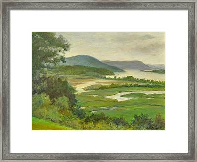 Summer Morning Hudson Highlands Framed Print
