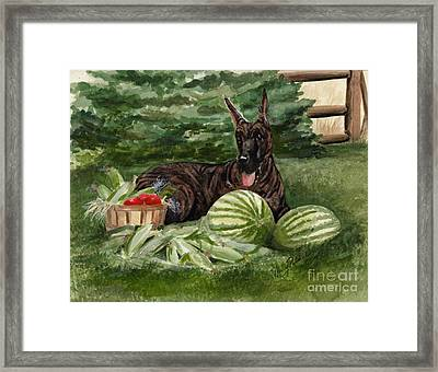 Framed Print featuring the painting Summer by Nancy Patterson