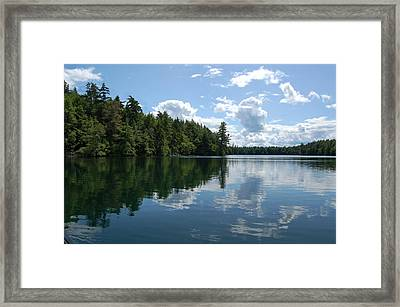 Summer Paddle Framed Print