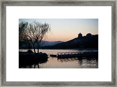 Summer Palace Evening Framed Print