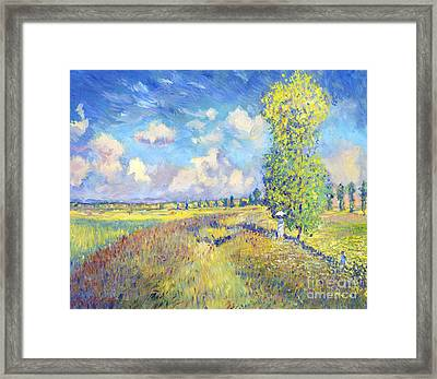 Summer Poppy Fields - Sur Les Traces De Monet Framed Print