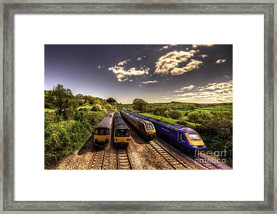 Summer Saturday At Aller Junction Framed Print by Rob Hawkins
